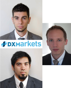Marcelo García Casil, Miguel Neumann and Federico Cardoso, founders of DXMarkets
