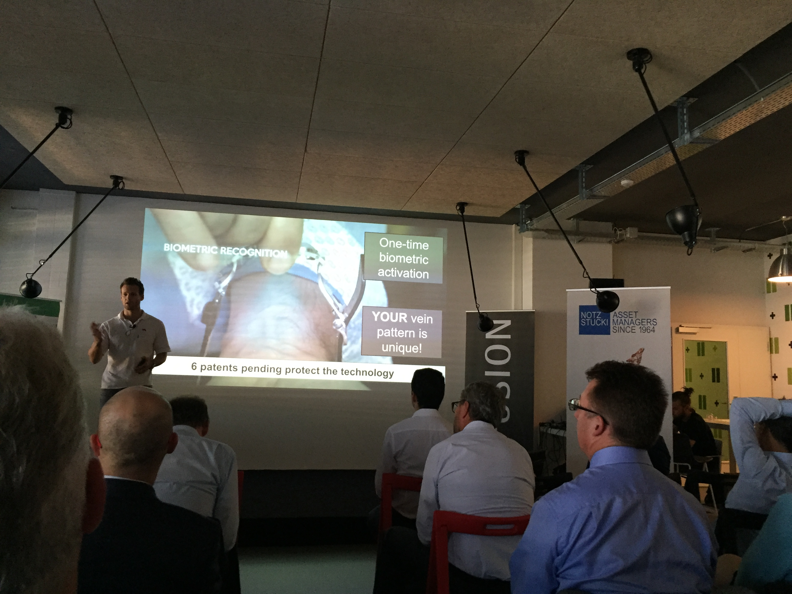 Biowatch pitching at Fusion Demo Day
