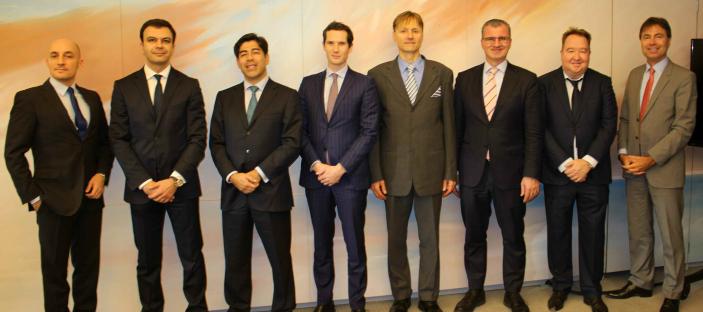 (left to right): Dominique Grandchamp, Sherban Tautu, Hilmi U?nver, Cle?ment Leturgie, Dr. Karl Sarkans, Vincenzo Zinna, Stephen Smethurst, Matthias Knab