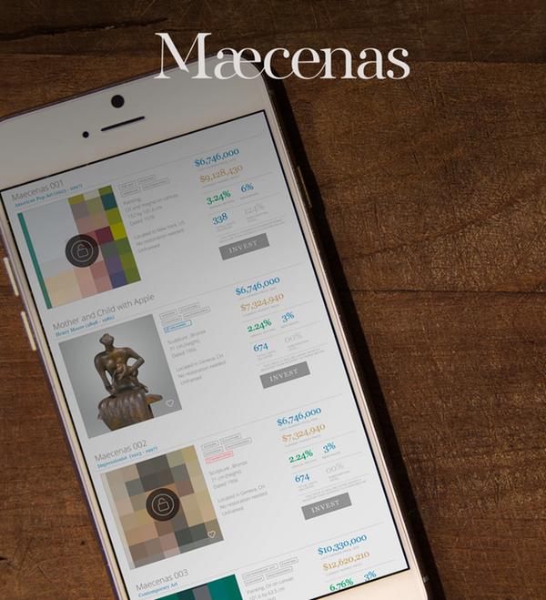 Maecenas blockchain art platform