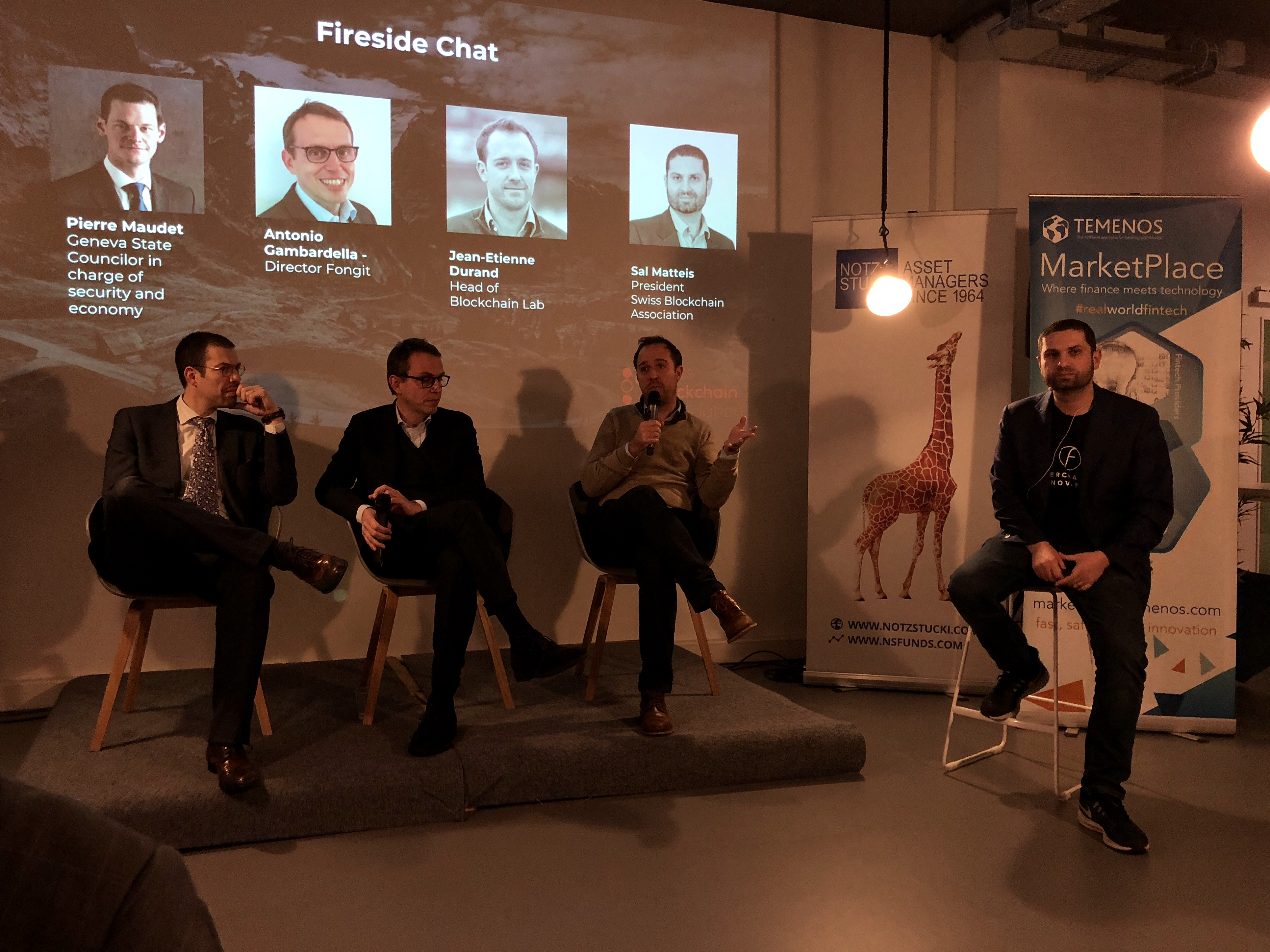Fireside Chat at Blockchain Lab presentation
